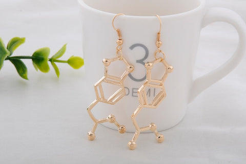 "MDMA ""Molly"" Molecule Earrings"