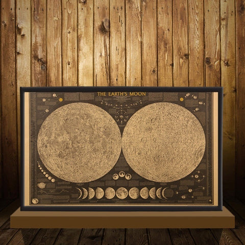 The Earth's Moon Vintage Map Wall Sticker - Peak Instinct - sacred geometry jewelry