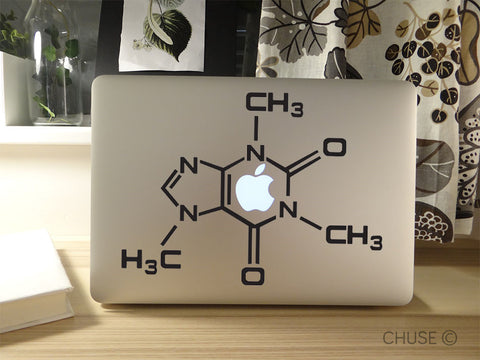 Caffeine Molecule Decal for MacBook Air, Pro, and Retina