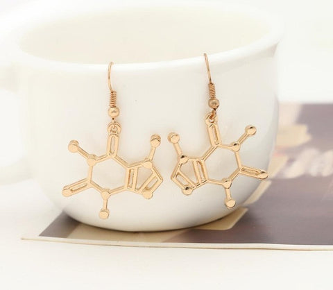 Dopamine Molecule Earrings