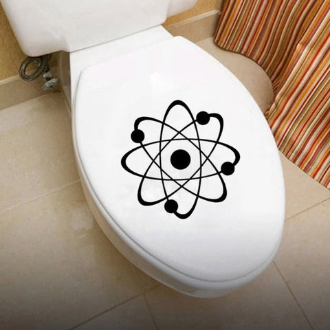 Atom Molecule Toilet Sticker