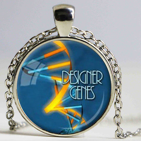 DNA Molecule Necklace Pendant