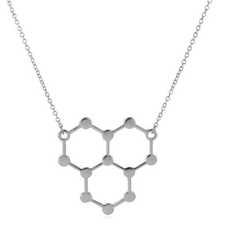 H2O Molecule Necklace