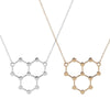 Image of H2O Molecule Necklace
