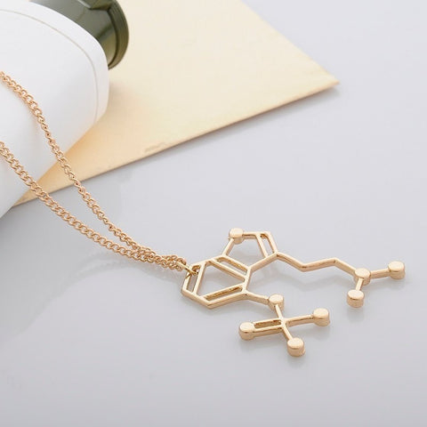 "Psilocybin ""Magic Mushroom"" Chemical Structure Necklace"