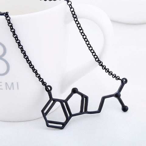 DMT Chemical Molecule Structure Necklace - Peak Instinct - sacred geometry jewelry