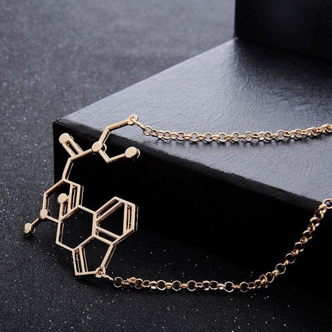 LSD Chemical Molecule Structure Necklace - Peak Instinct - sacred geometry jewelry