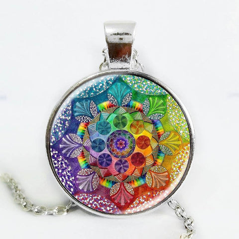 Handmade Free Spirit Mandala Necklace - Peak Instinct - sacred geometry jewelry