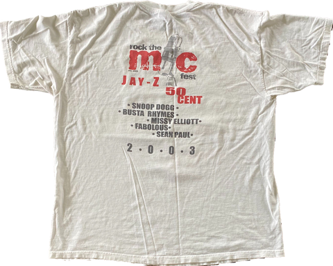 Vintage 50 Cent Jay-Z Rock the Mic 2003 Tour Tee