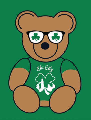 St Pat's Bear - Women's V Neck
