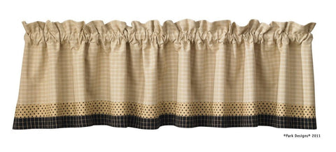 Country Curtain Lined Valance Peppermill