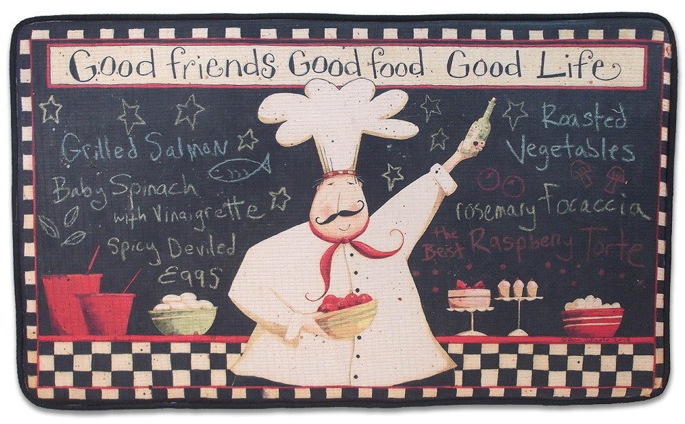 Memory Foam Kitchen Rug (Fat Chef), Bistro Decor Cushion Rectangle Rug