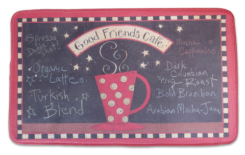 Memory Foam Kitchen Rug Friends Coffee