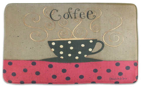 Memory Foam Kitchen Rug Coffee Cup