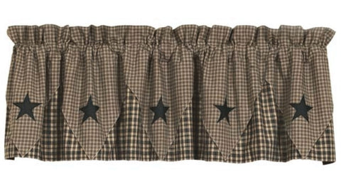 Barn Star Layered Window Valance