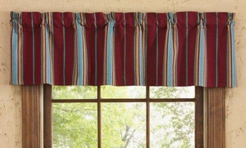 Saddle Blanket Curtain Striped Valance