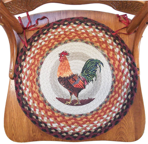 Braided Chair Pads Morning Rooster