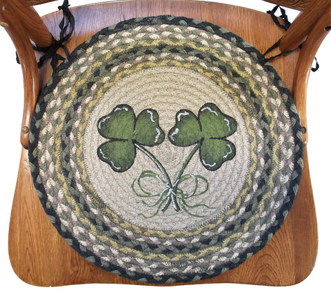 Braided Chair Pads Irish Shamrock