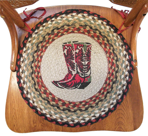 Braided Chair Pads Cowboy Boots