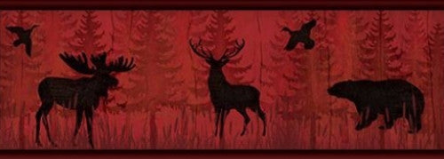 Moose and Bear Wallpaper Border TLL01601B