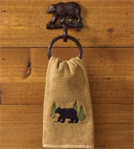 Cast Iron Bear Ring Hook towel holder