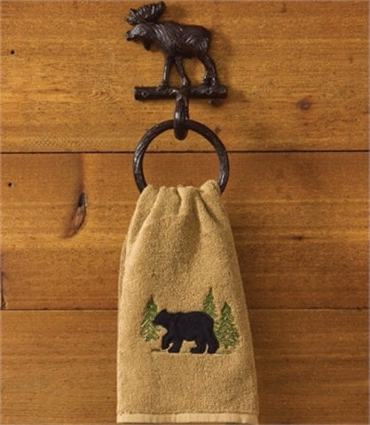 Cast Iron Moose Ring Hook towel holder