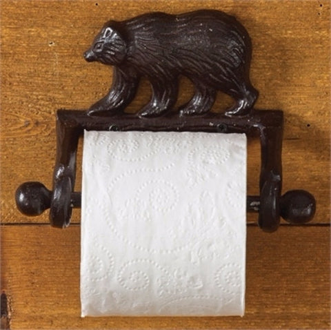 Cast Iron Bear toilet paper holder