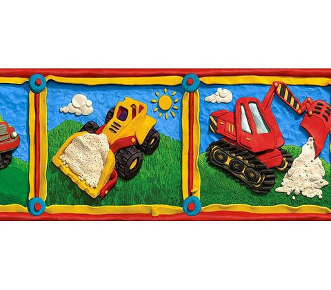 Kids Construction Wallpaper Border GU92032B
