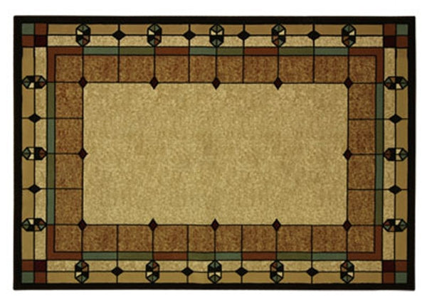 Art Deco Area Rug 5x7 Stained Glass Design Arts And