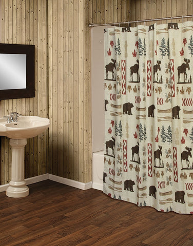 North Woods Moose and Bear 5 Piece Bath Set