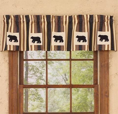 Canyon Bear Curtain Lined Valance