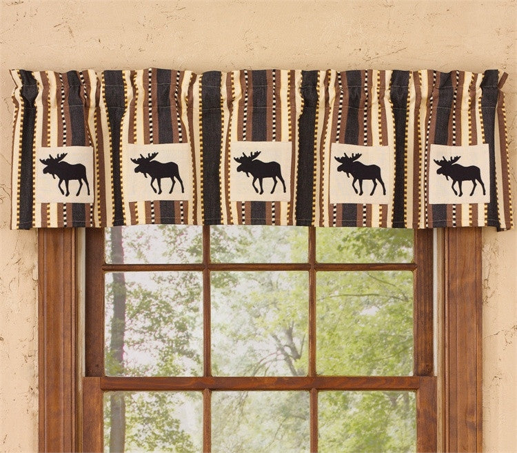 Canyon Moose Curtain Lined Valance