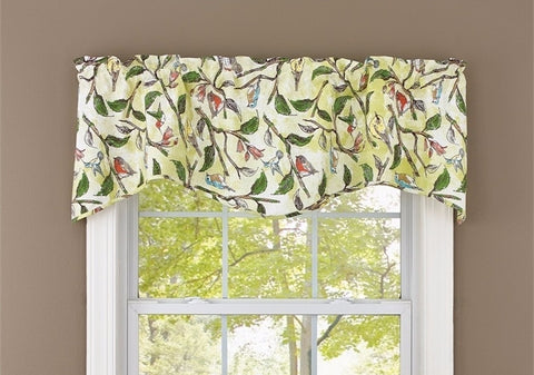 Bird Song Lined Wave Valance