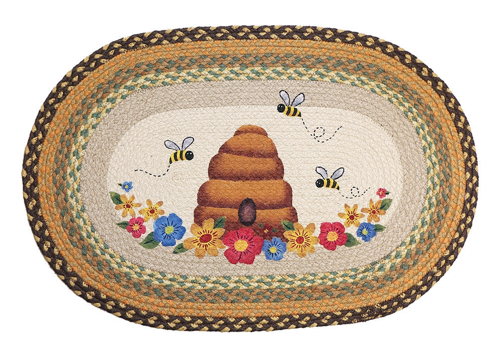 Beehive Braided Rug Oval