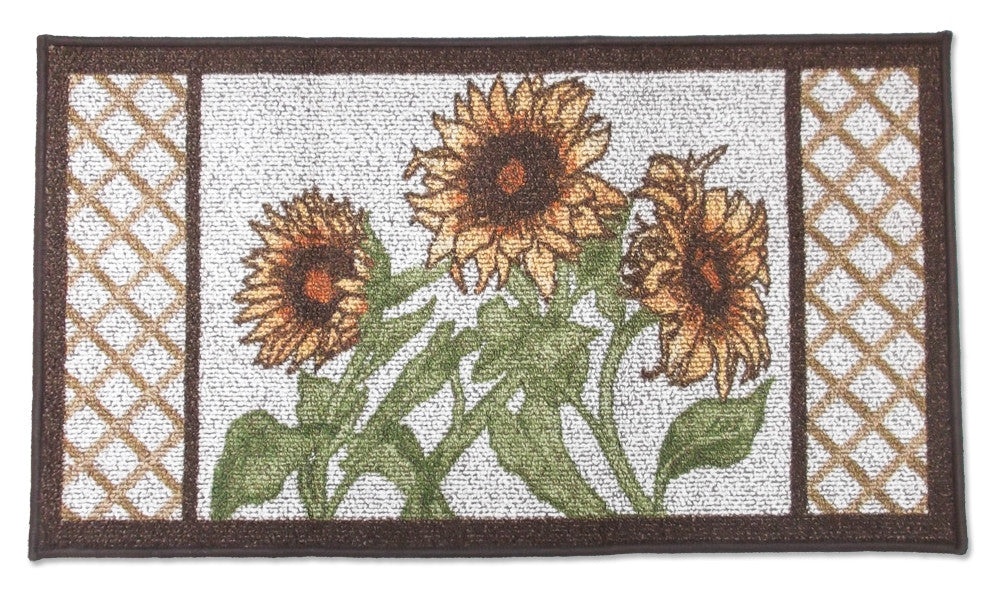 Garden Sunflowers Kitchen Rug