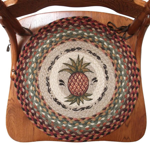 Braided Chair Pads Pineapple