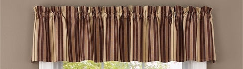 Coffee Curtain Valance Mocha