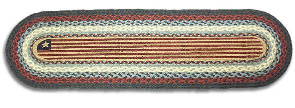 American Flag Braided Rug Runner