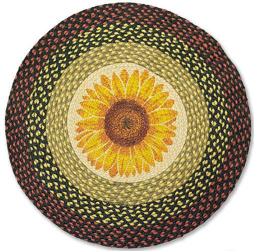 Sunflower Braided Rug Round