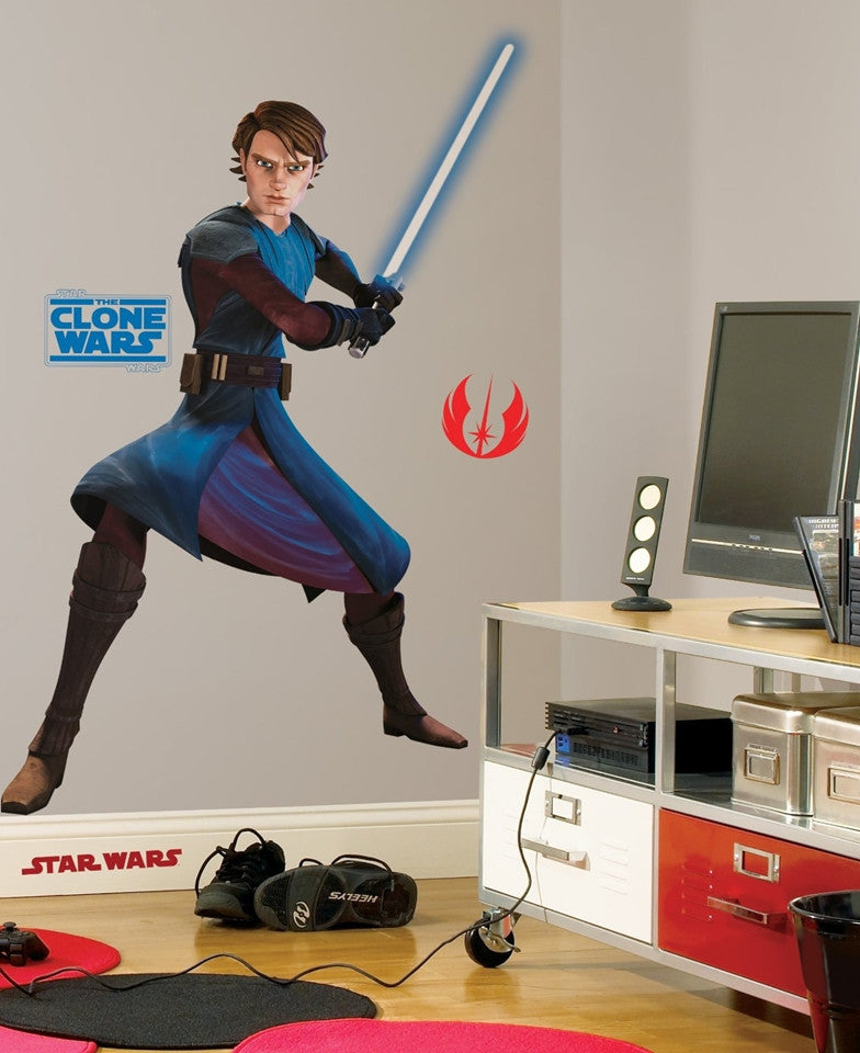 Star Wars Clone Wars Giant Anakin wall sticker