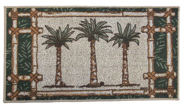 Palm Tree Oasis Kitchen Rug Laundry Room Mat Tropical