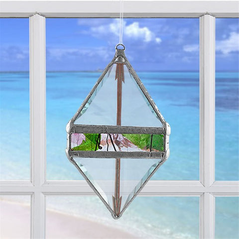 Rainbow Water Prism Double Pyramid Garden Collage