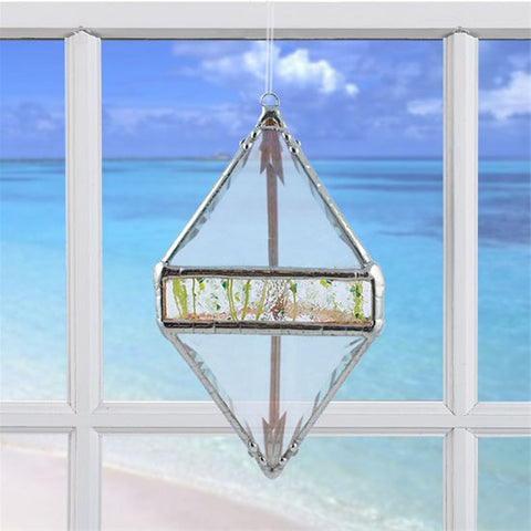 Rainbow Water Prism Double Pyramid Spring Green