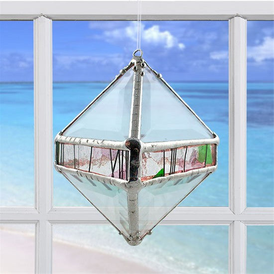 Rainbow Water Prism Octahedron Garden Collage
