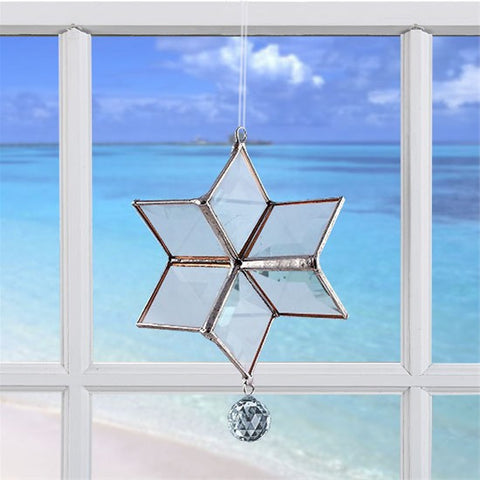 Rainbow Dancer Crystal Snowflake | Prism Rainbow Maker