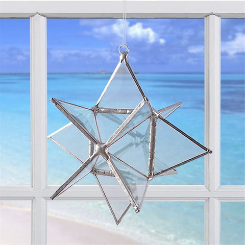 Wishing Star Crystal Ice | Glass Suncatcher