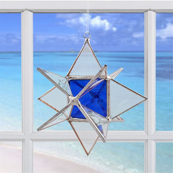 Wishing Star Cobalt Blue | Glass Suncatcher