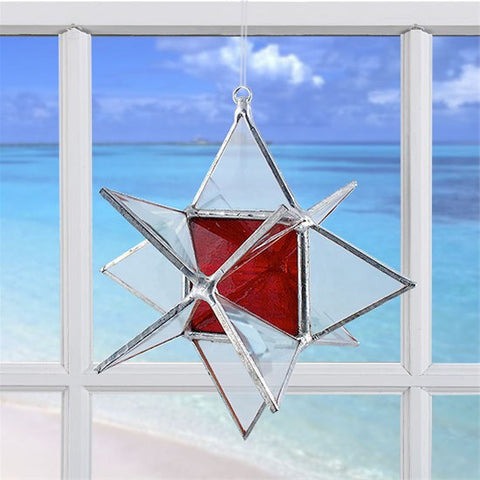 Wishing Star Red | Glass Suncatcher
