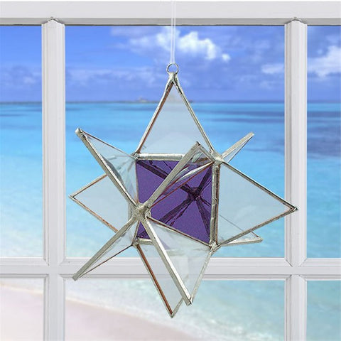 Wishing Star Purple | Glass Suncatcher