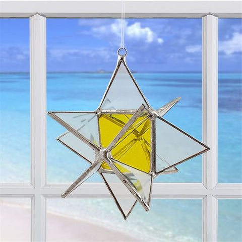 Wishing Star Yellow | Glass Suncatcher